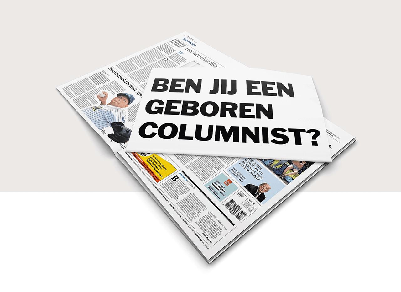 geboren columnist